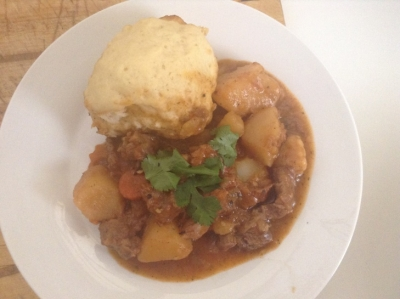 Carrot Stew and Dumplings